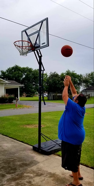 Chris Shooting Some Hoops