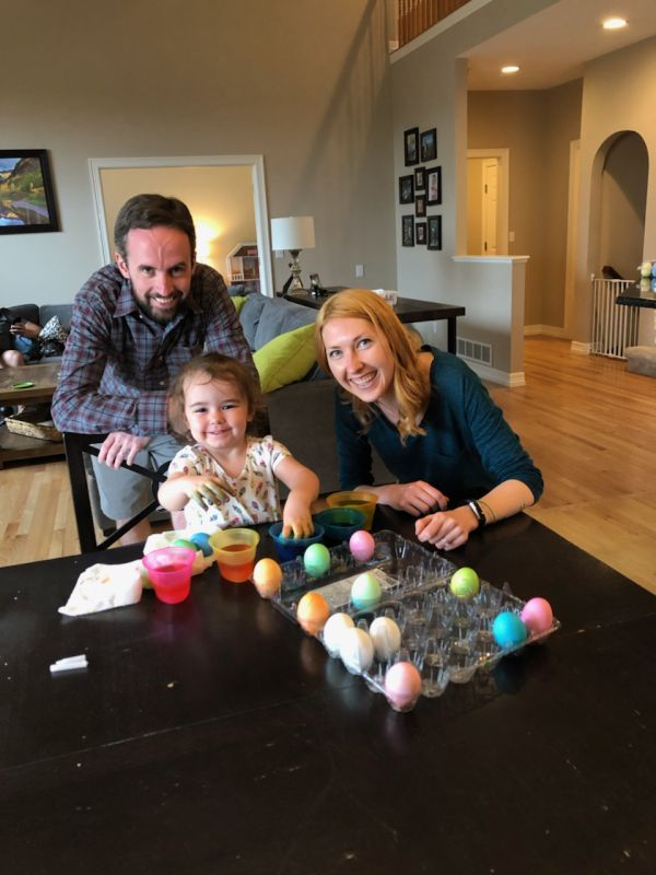 Dying Easter Eggs With Our Goddaughter