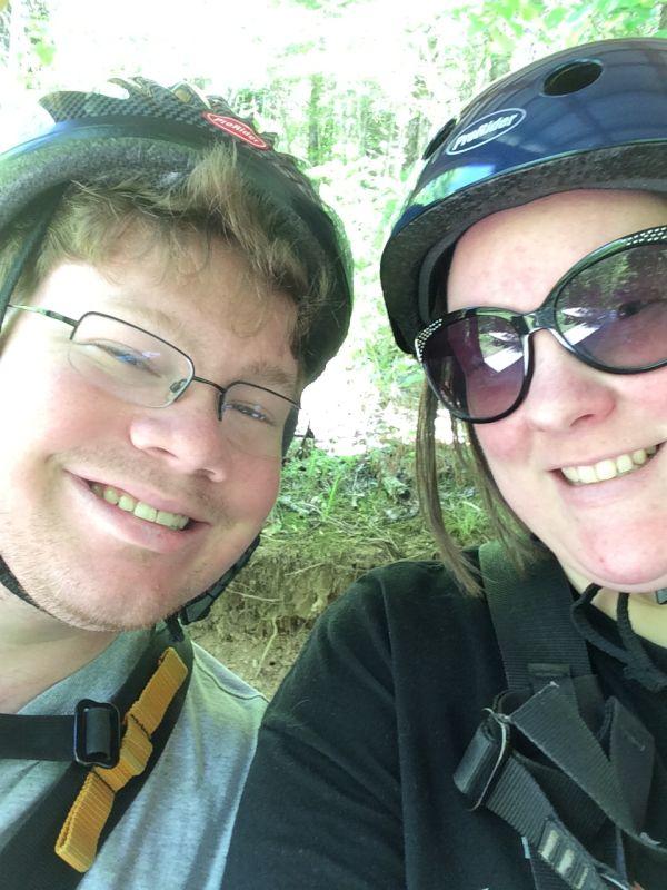 Ziplining on Our Honeymoon