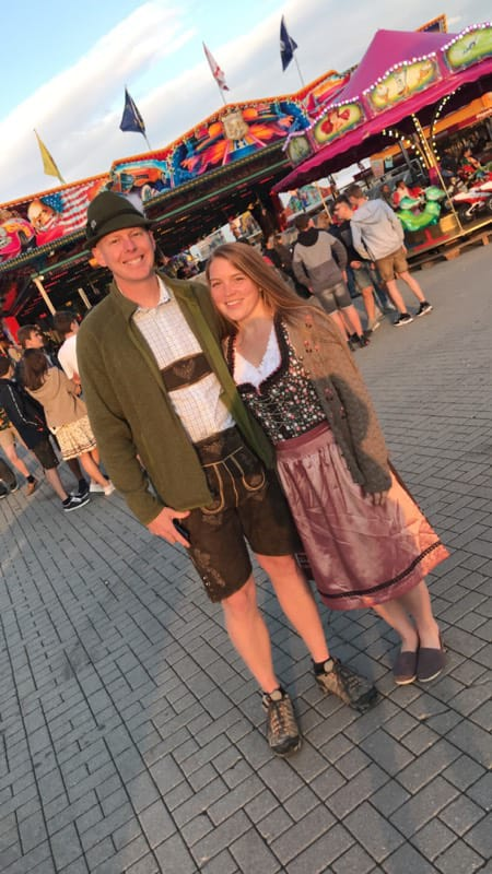 Celebrating at a Local German Festival