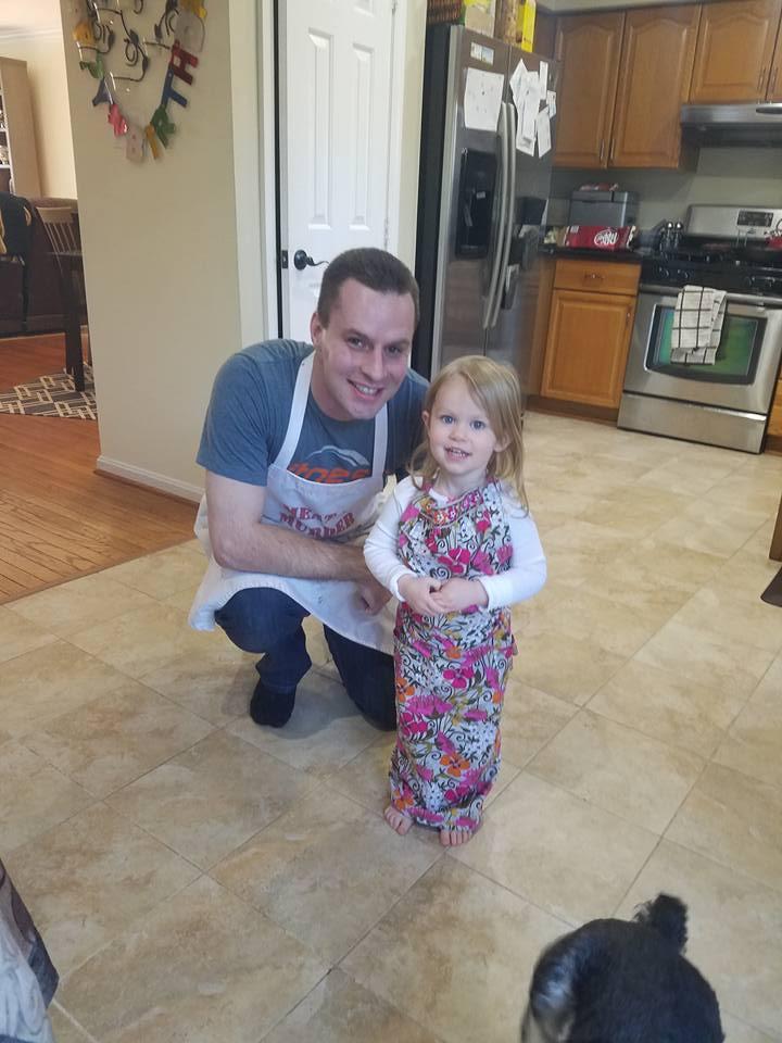 Teaching Diana How to Bake Cookies