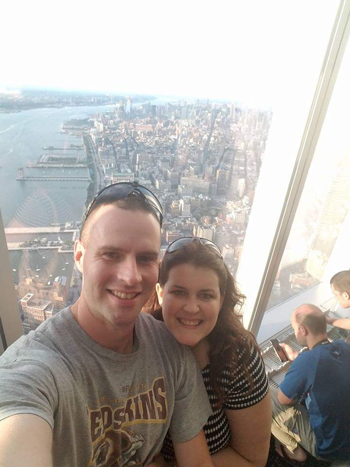 At the Top of Freedom Tower in NYC