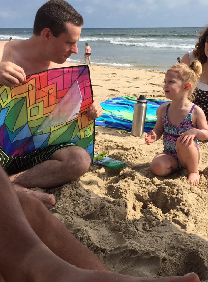 Uncle Steve Teaching Our Niece About Kites