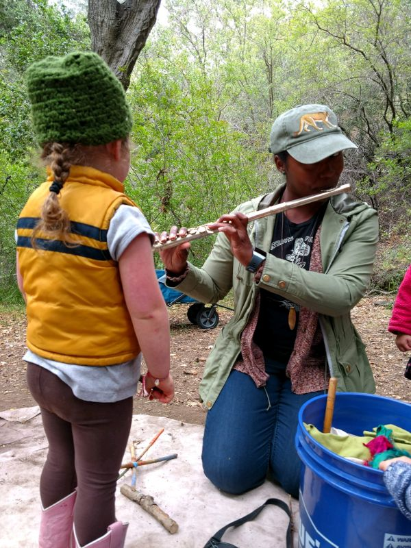 Teaching Music Lessons During Forest Kindergaraten