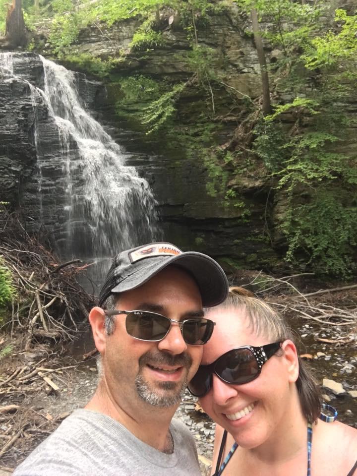 Hiking at Bushkill Falls