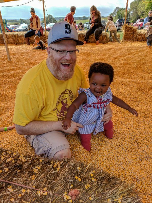 Fun in the Harvest Festival Corn Pit