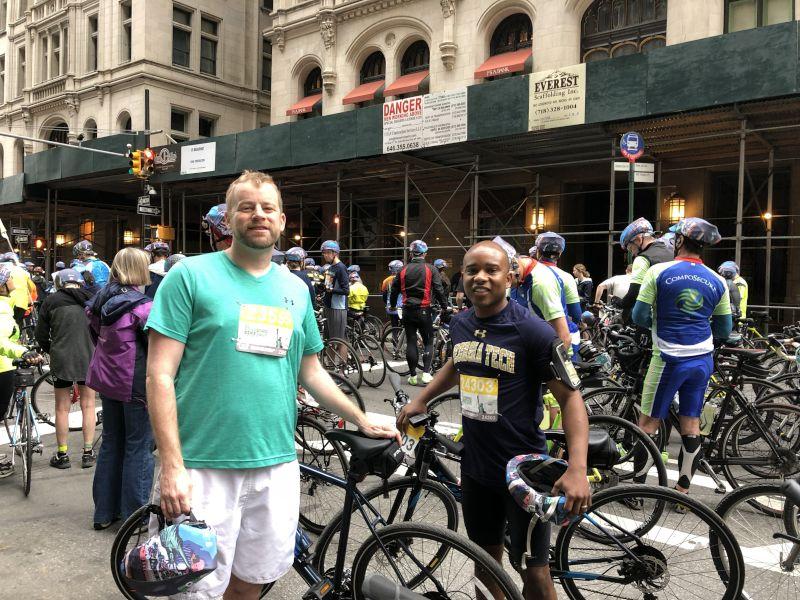 Biking Through New York