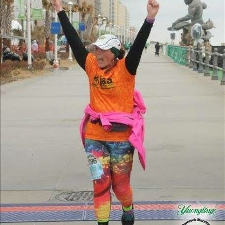 Cynthia's Marathon Finish