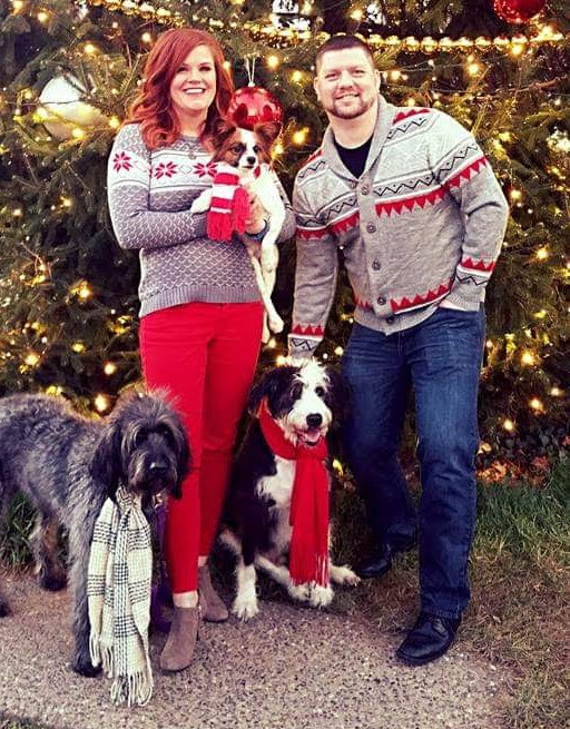 Holiday Photo With Our Dogs