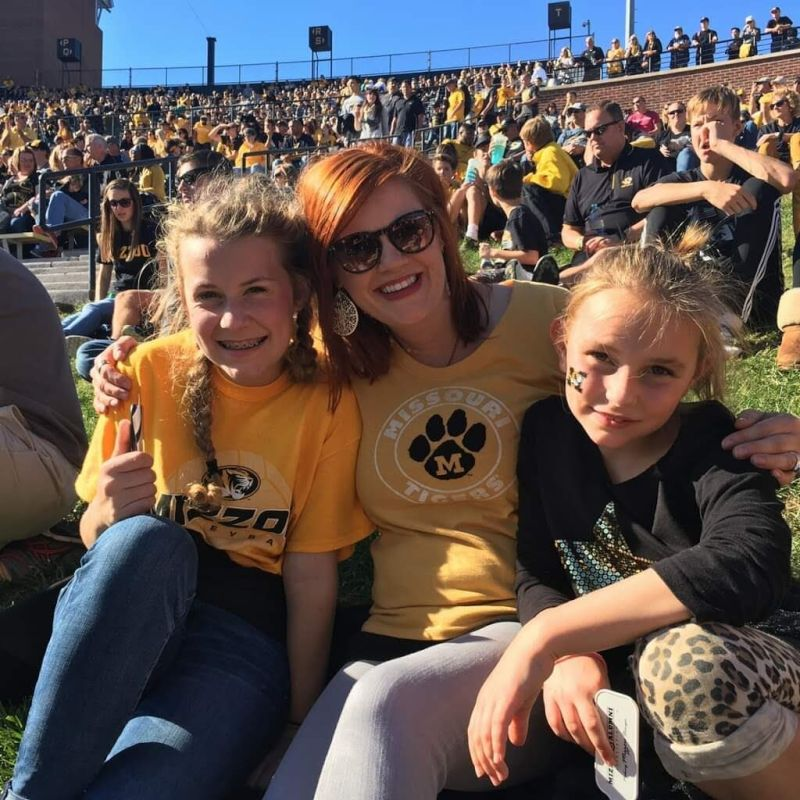 With Our Nieces at a Football Game