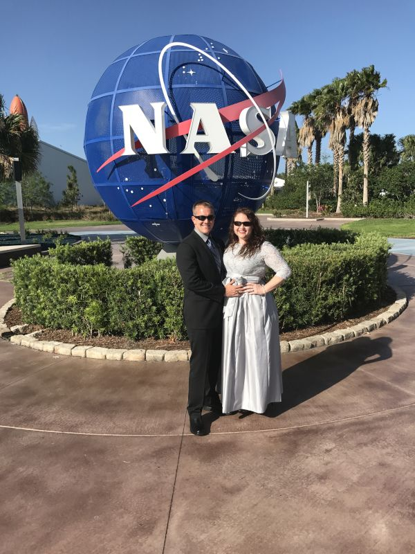 At the Astronaut Hall of Fame Gala in Port Canaveral