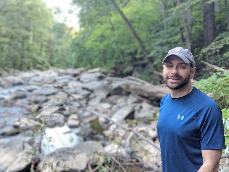 Matthew Strolling Through Rock Creek Park
