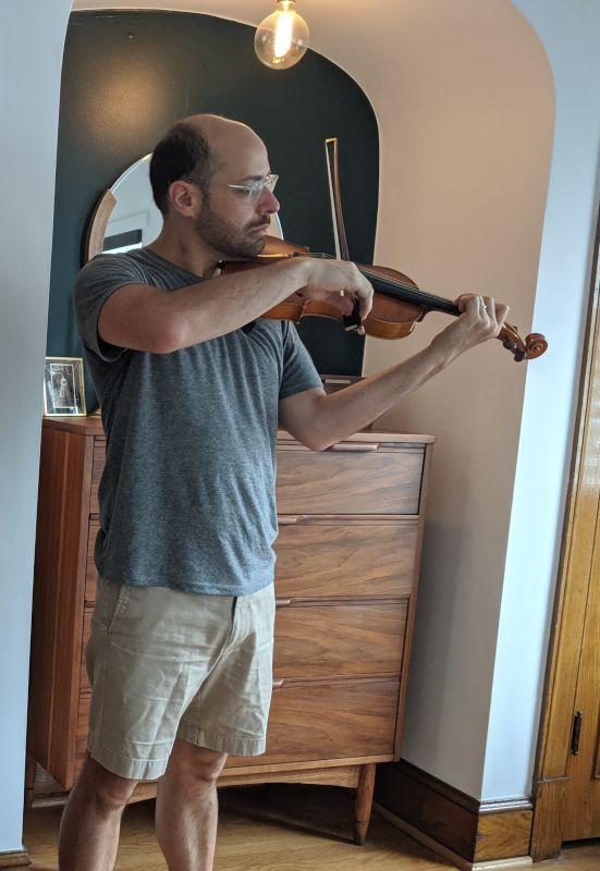 Matthew Playing His Violin