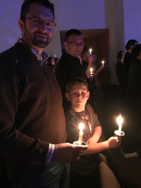 Christmas Eve Service with Brandon, Carter and Uncle Darrin