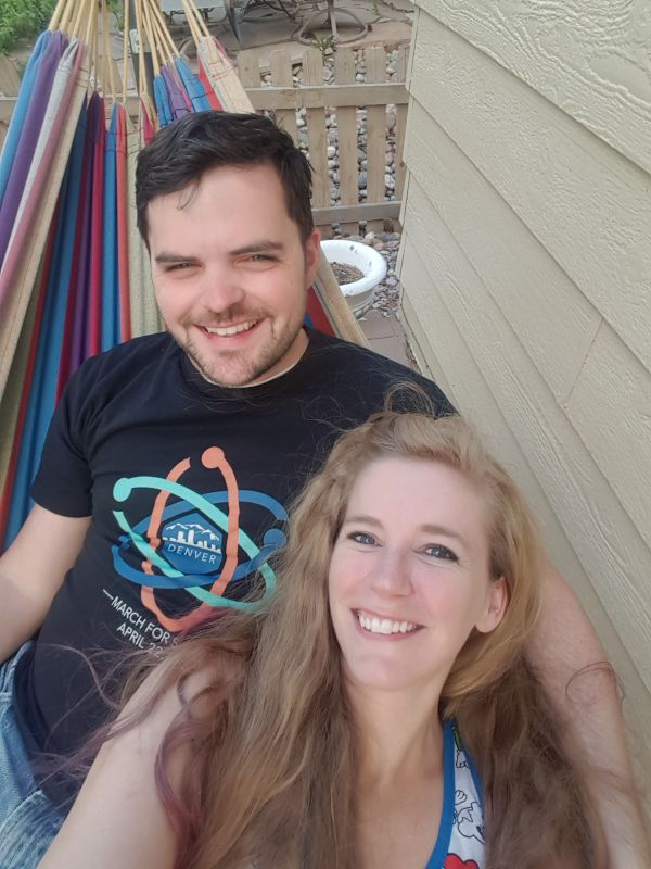 Relaxing in Our Hammock