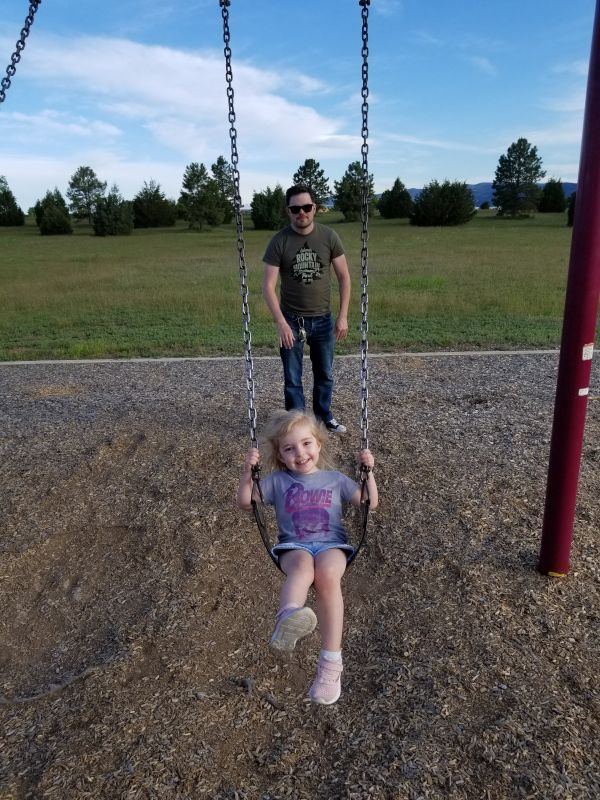 At the Playground with Our Niece