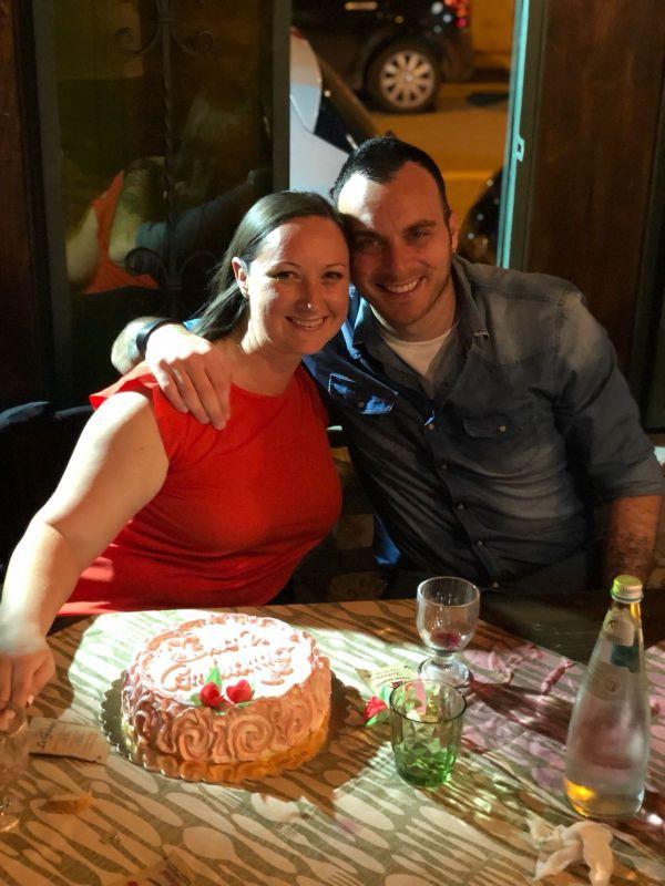 Celebrating Shannon's Birthday in Italy