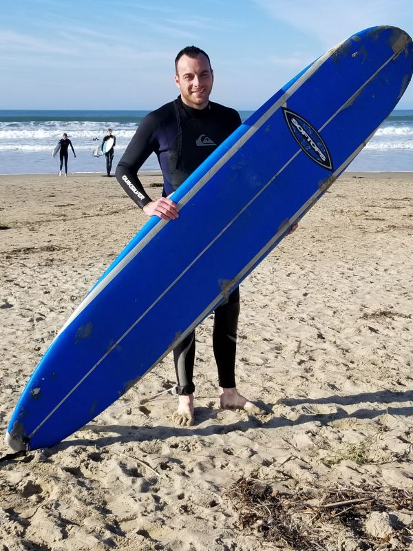 Matteo Hitting the Waves
