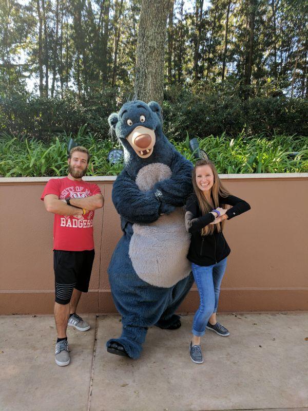 Striking a Pose at Disney World