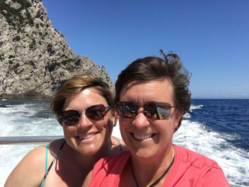 Boating in Capri, Italy