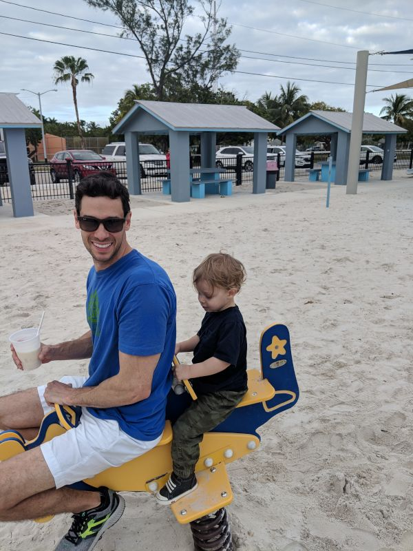 Justin and Theo Enjoying the Park in Key West