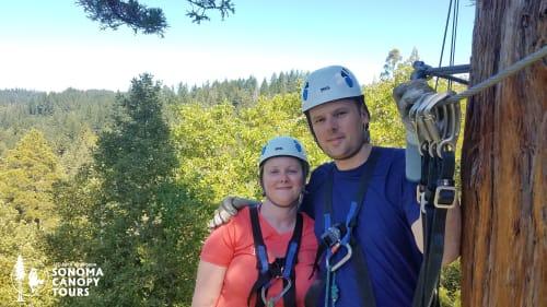 Ziplining in the Redwoods of California