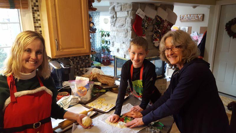 Baking Christmas Cookies for Santa, a Holiday  Tradition!