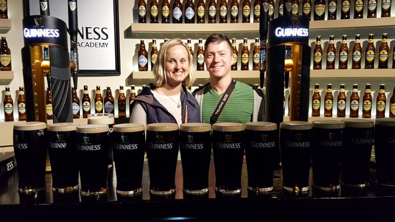 Learning How to Properly Pour a Guinness in Ireland