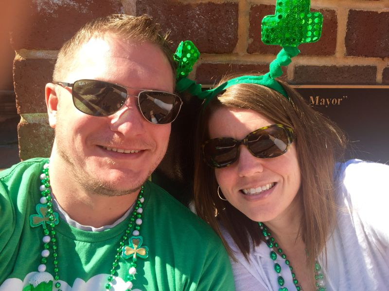 Being Festive at the St. Patrick's Day Parade!