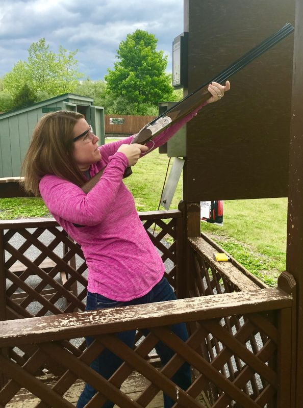 Sarah Tries Her Hand at Sporting Clays