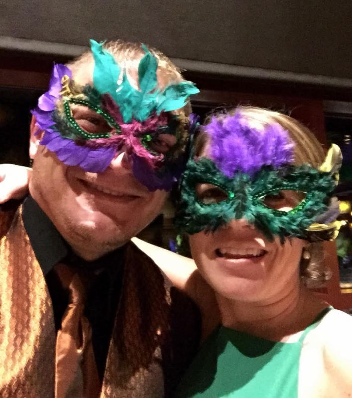Celebrating at a Masquerade Ball