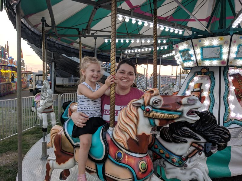 A Ride on the Carousel With Our Niece