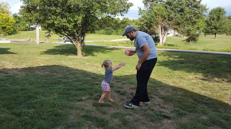 Playing Catch With Our Niece