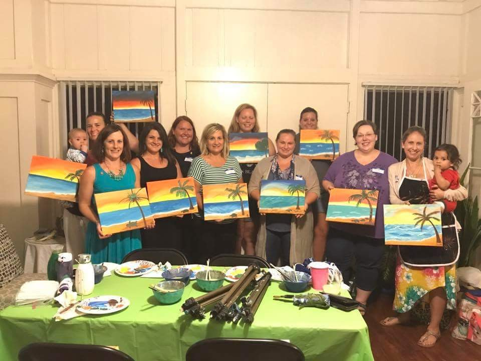 Paint Night With Military Spouses