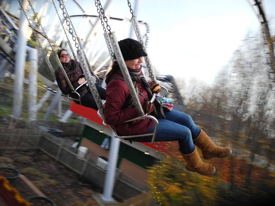 Natalya & Her Sisters Swinging High at Hersheypark