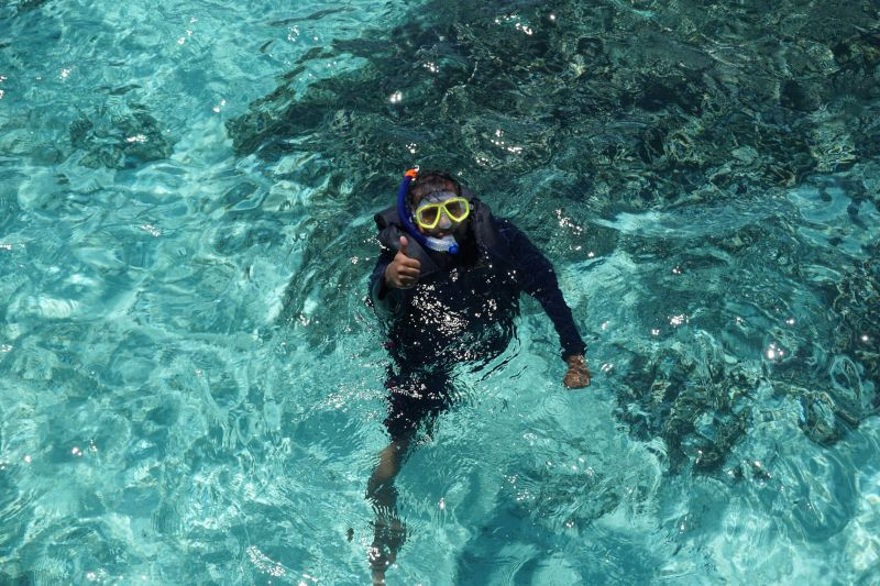 Owais Snorkeling in the Maldives