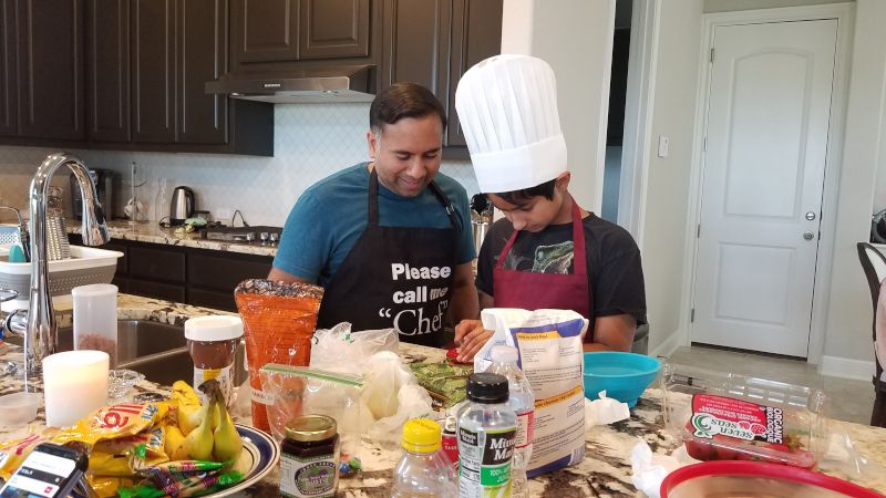 Owais Cooking With Our Nephew