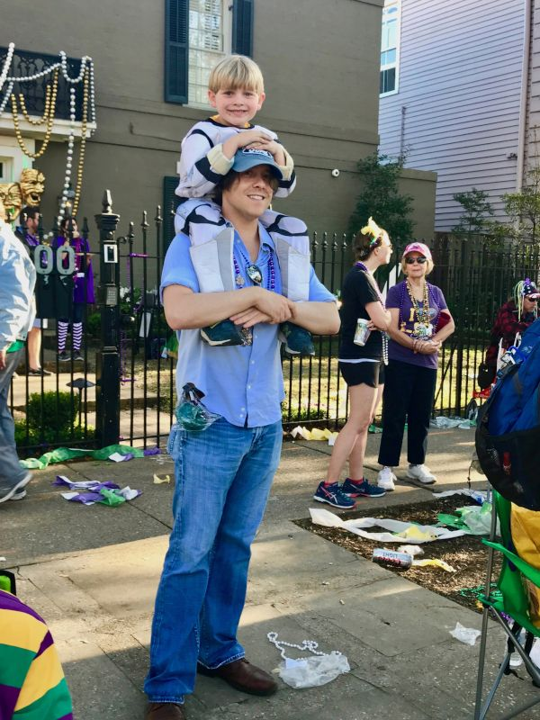 Fun at the Mardi Gras Parade
