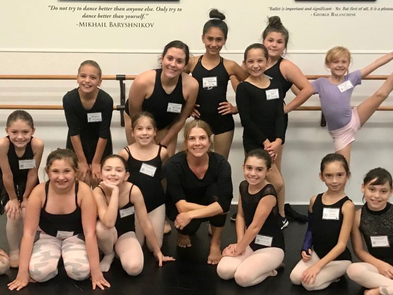Erin with Some of Her Dance Students