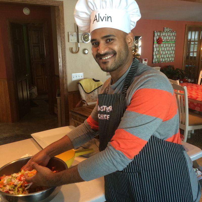 Chef Alvin Preparing a Meal