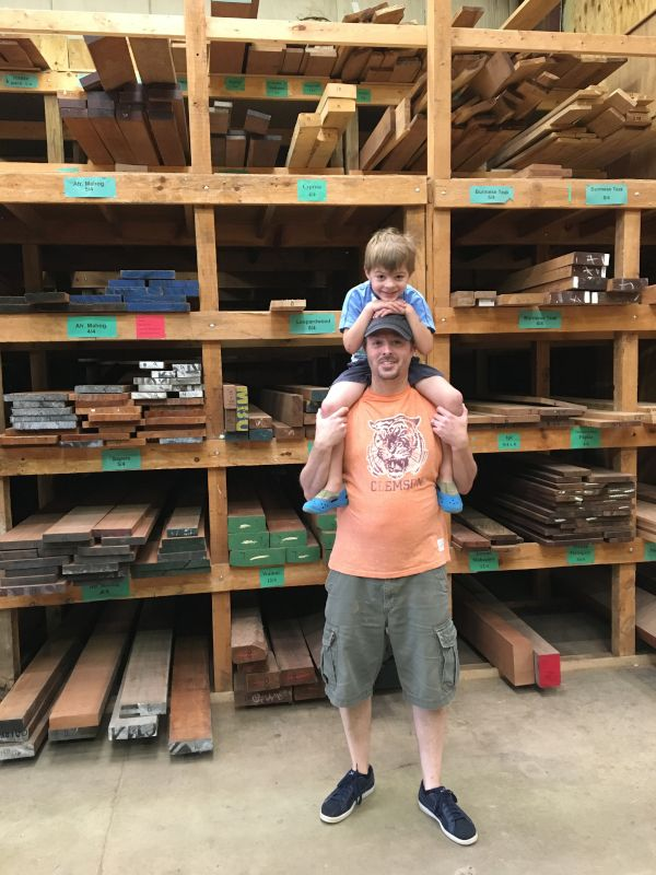 Helping Dad Pick Out Lumber