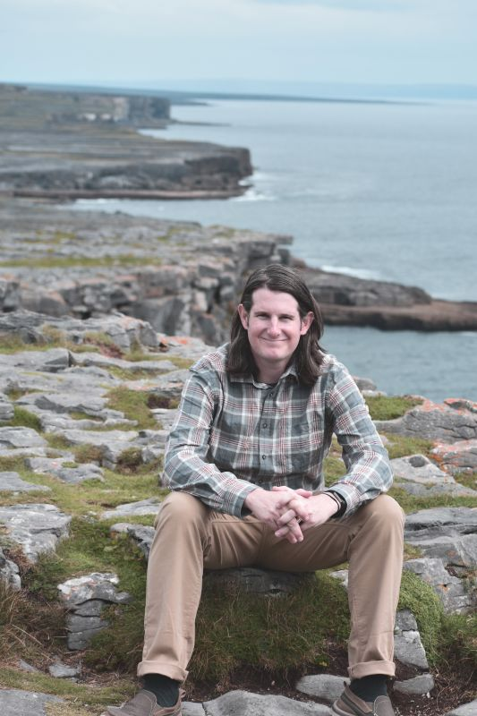 Jim Enjoying the Cliffs of the Aran Islands