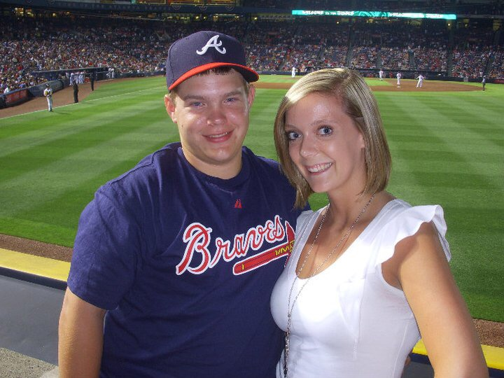 Cheering on the Atlanta Braves