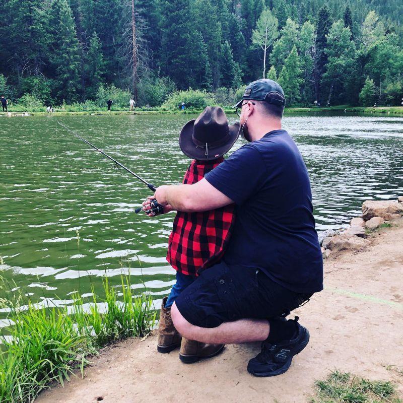 Fishing at Our Favorite Lake