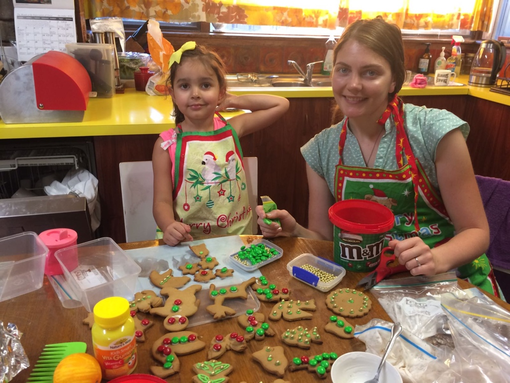 Making Gingerbread With Our Niece