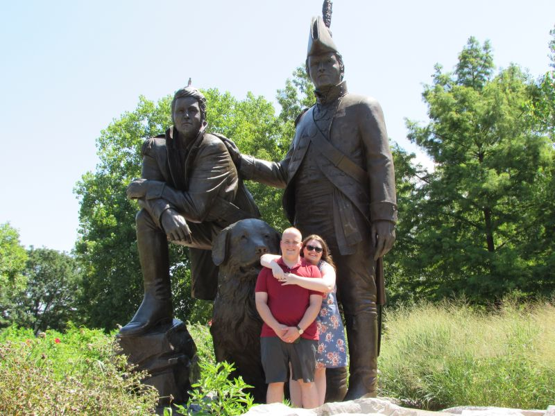 With the Lewis & Clark Statue