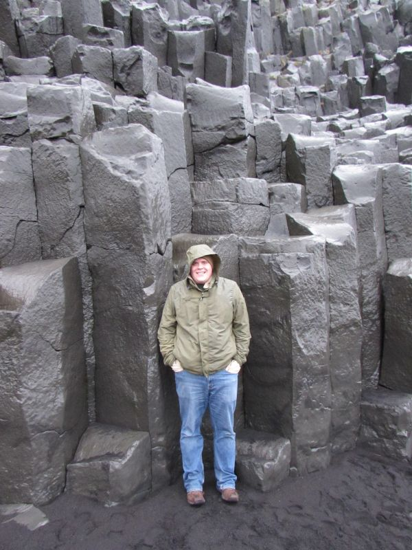 Admiring Basalt Rocks in Iceland