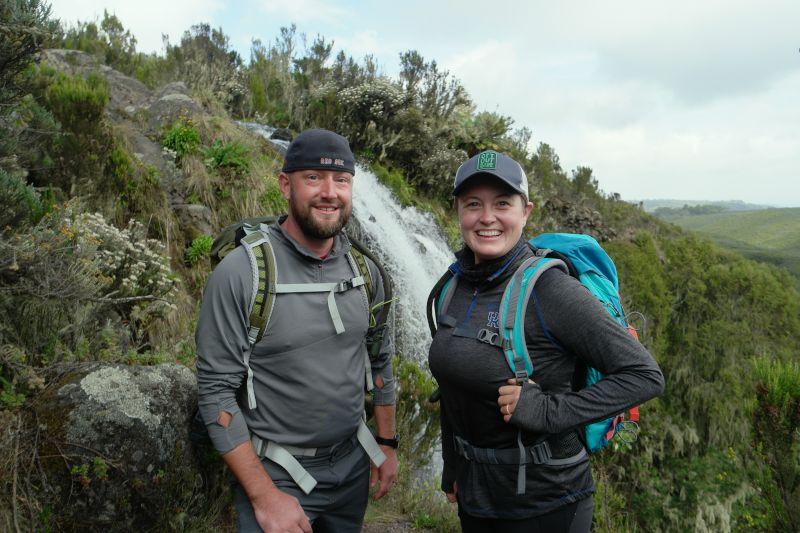 Hiking Up Mt. Kenya