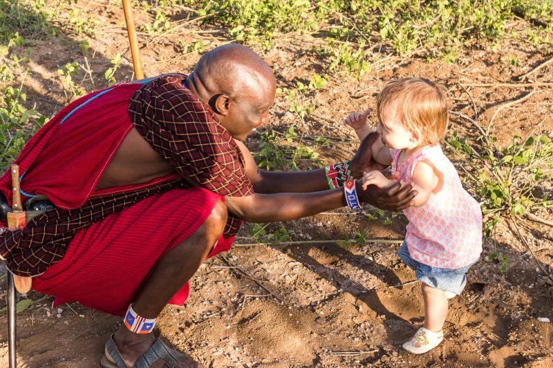 Dorothy Meeting a Maasai Warrior
