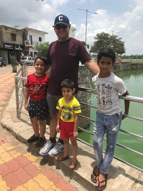 Bhaskar With Our Nephews in India